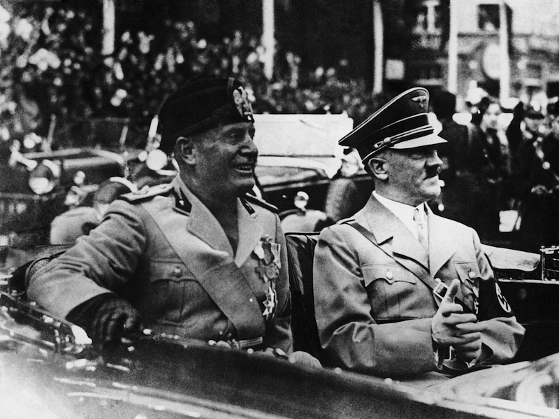 Germany Munich Benito Mussolini and Adolf Hitler