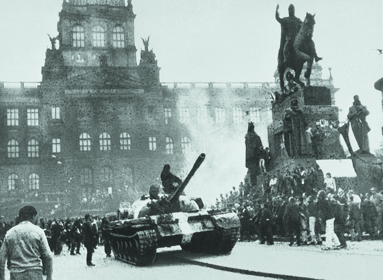Tanks Move Into Wenceslas Square