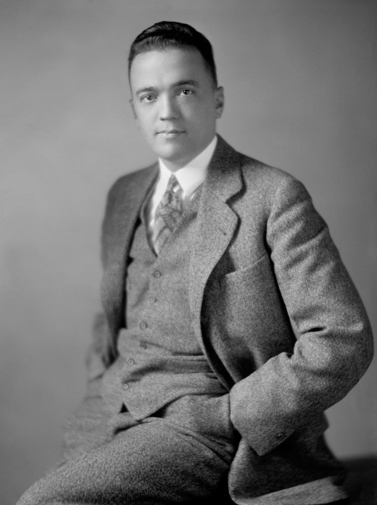 Portrait photo c1920s of J (John) Edgar Hoover (1895 - 1972) - first Director of the Federal Bureau of Investigation in the USA.
