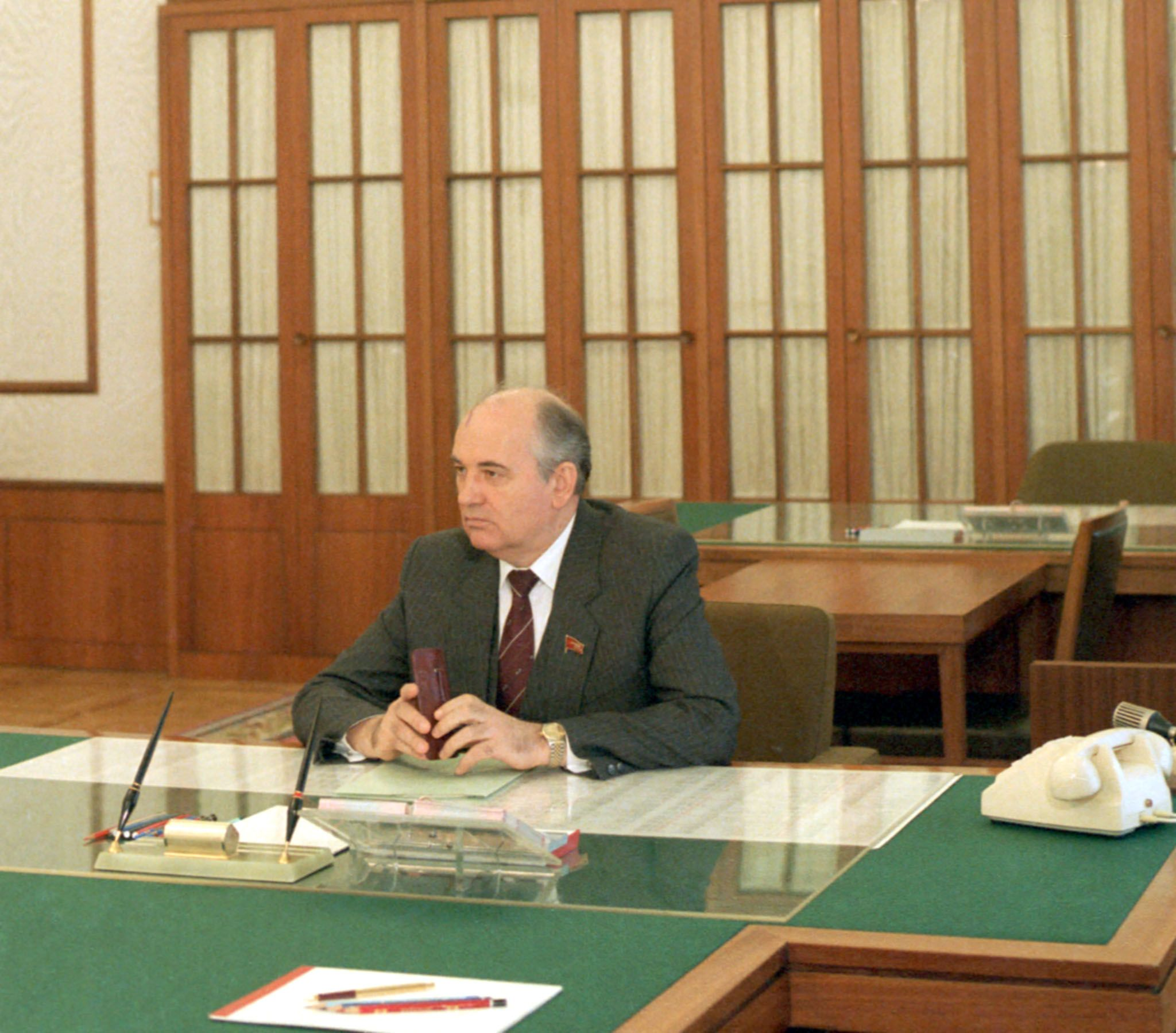 General Secretary of Central Committee of CPSU Mikhail Gorbachev, 1985