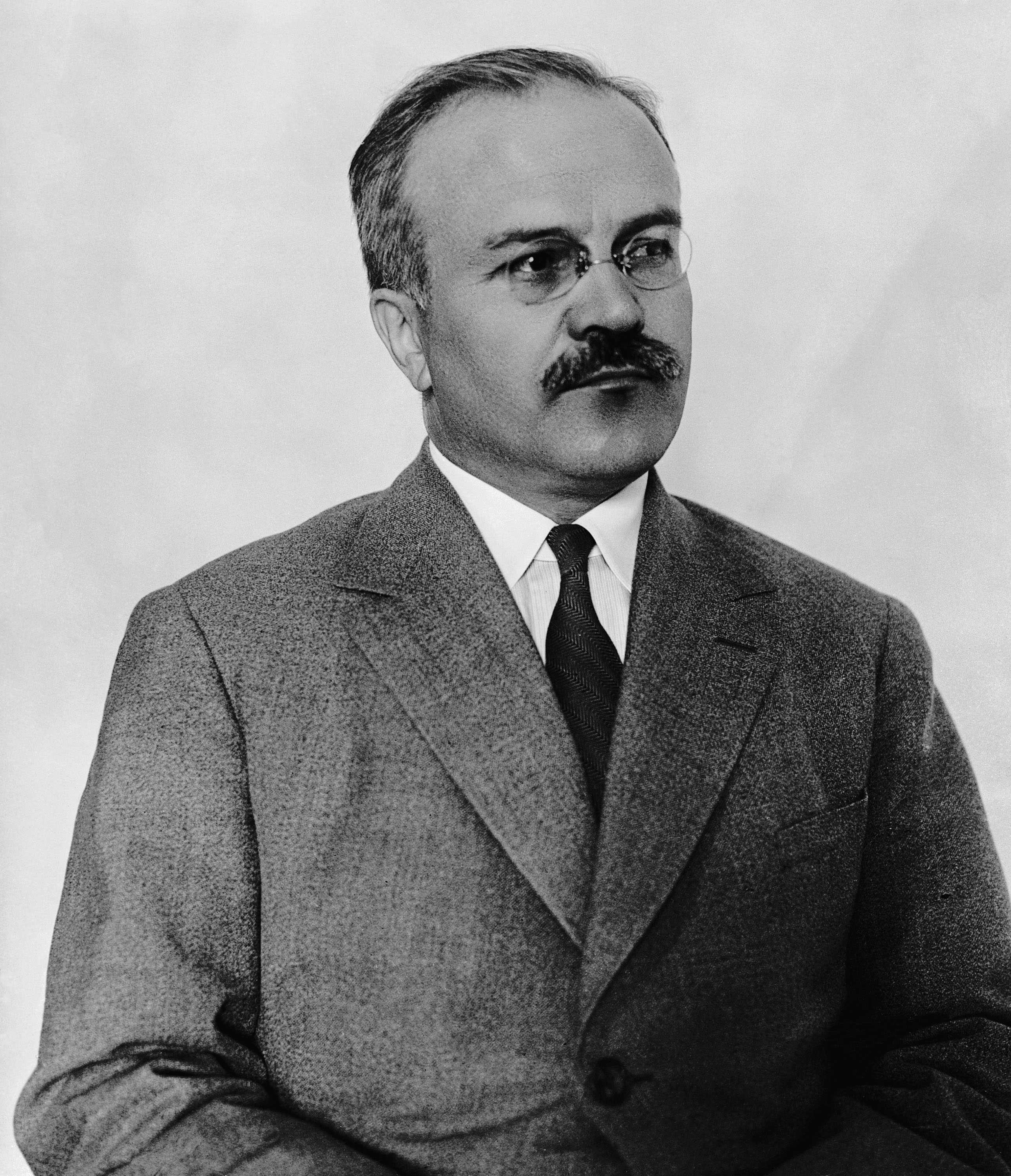 Soviet politician and diplomat Vyacheslav Molotov