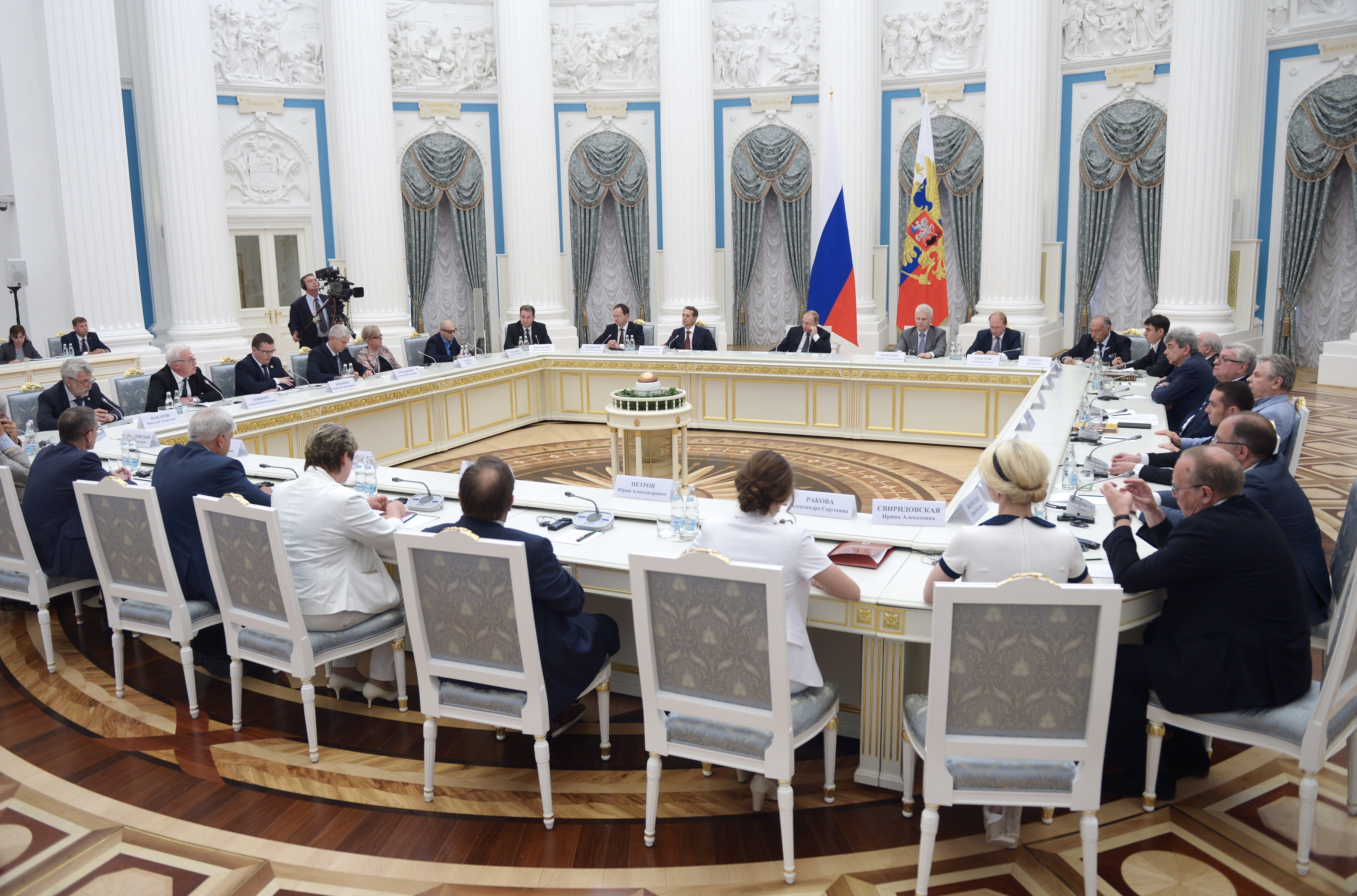 President Putin meets with All-Russian Historical Assembly delegates