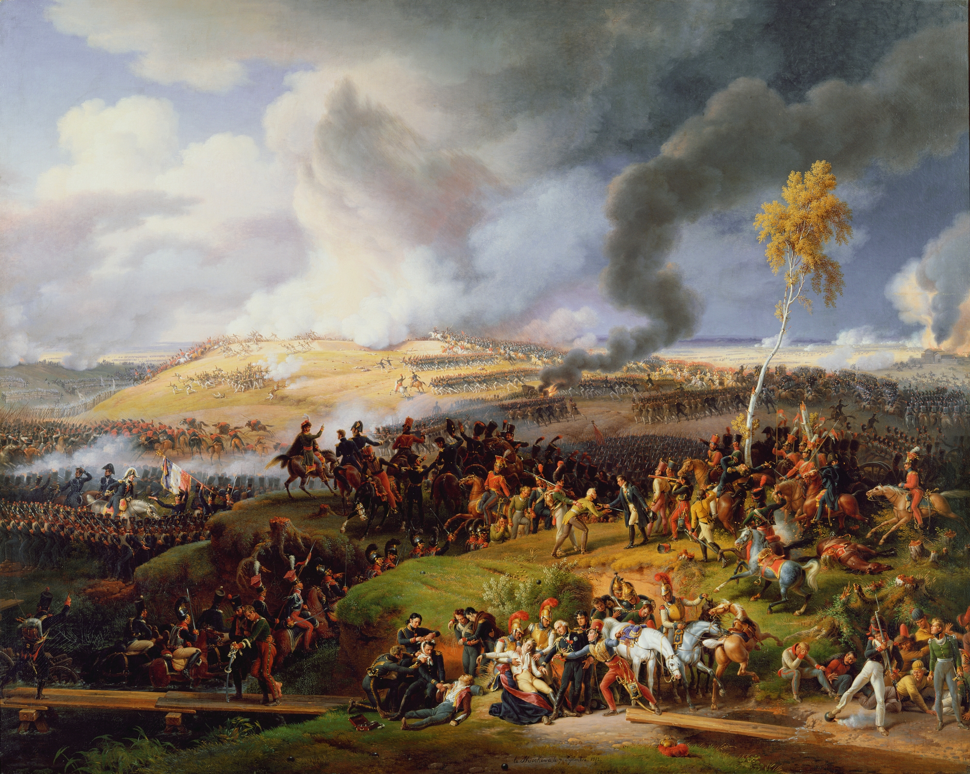 0709 %22Battle of Moscow, 7th September 1812%22, 1822 by Louis Lejeune